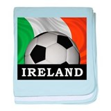Football Ireland baby blanket