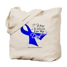 Dad Colon Cancer Awareness Tote Bag