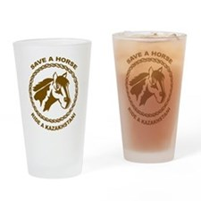 Ride A Kazakhstani Pint Glass