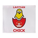 Laotian Chick Throw Blanket