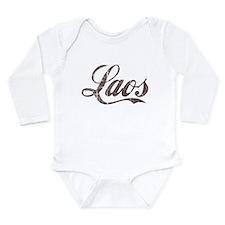 Vintage Laos Long Sleeve Infant Bodysuit