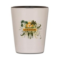 Palm Tree Lebanon Shot Glass