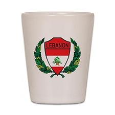 Stylized Lebanon Shot Glass