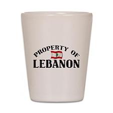 Property Of Lebanon Shot Glass