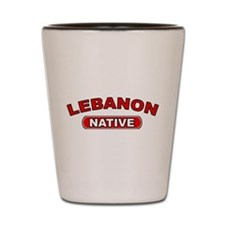 Lebanon Native Shot Glass