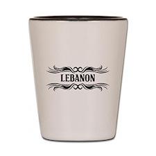 Tribal Lebanon Shot Glass