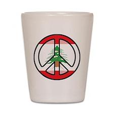 Peace In Lebanon Shot Glass