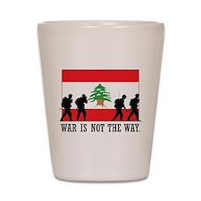 War Is Not The Way Shot Glass
