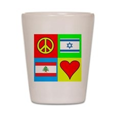 Peace (Israel & Lebanon) Shot Glass