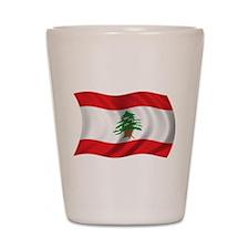 Wavy Lebanon Flag Shot Glass