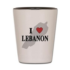 I Love Lebanon Shot Glass