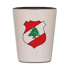 Lebanon Coat Of Arms Shot Glass