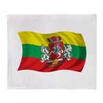 Wavy Lithuania Flag Throw Blanket