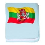 Wavy Lithuania Flag baby blanket