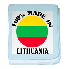 Made In Lithuania baby blanket
