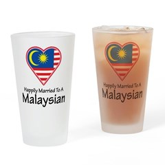 Happily Married Malaysian Pint Glass