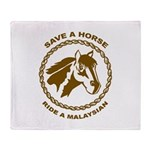 Ride A Malaysian Throw Blanket