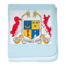 Mauritius Coat Of Arms baby blanket