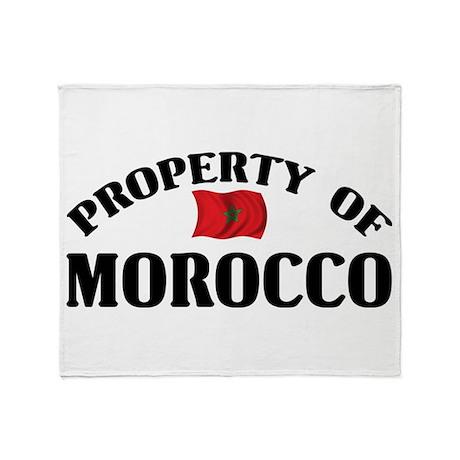 Property Of Morocco Throw Blanket