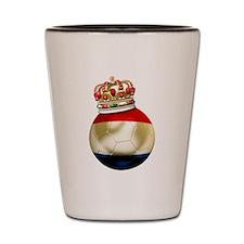 Netherlands Football Shot Glass