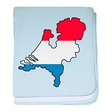 Map Of Netherlands baby blanket
