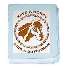 Ride A Dutchman baby blanket