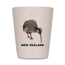 New Zealand Kiwi Shot Glass