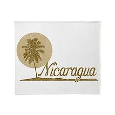 Palm Tree Nicaragua Throw Blanket