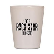 Rock Star In Nigeria Shot Glass