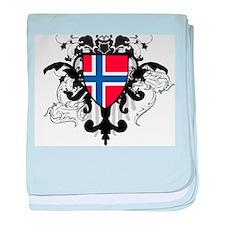 Stylish Norway baby blanket