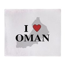 I Love Oman Throw Blanket