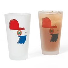3D Paraguay Map Pint Glass