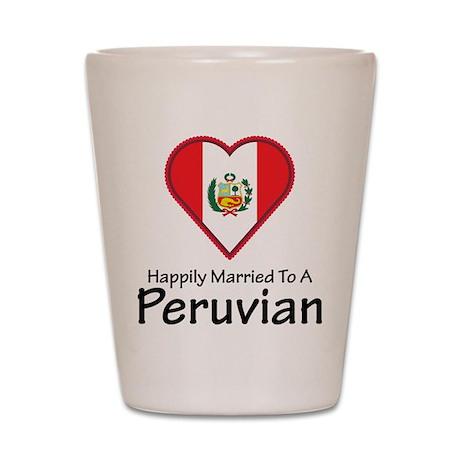Happily Married Peruvian Shot Glass