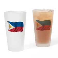 Wavy Philippines Flag Pint Glass