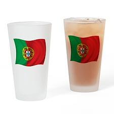 Wavy Portugal Flag Pint Glass