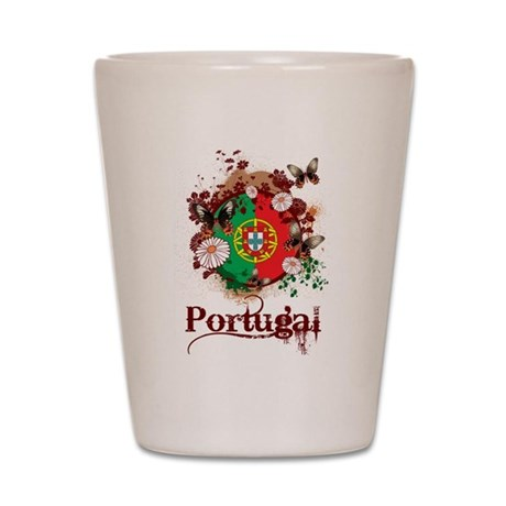Butterfly Portugal Shot Glass