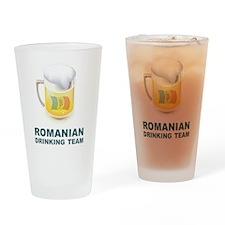 Romanian Drinking Team Pint Glass