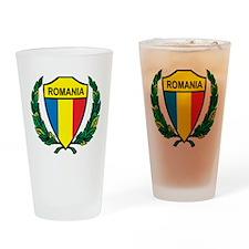Stylized Romania Pint Glass