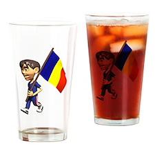3D Romania Pint Glass