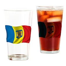 Wavy Romania Flag Pint Glass
