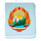 Romania Coat Of Arms 1965 baby blanket