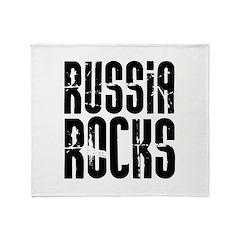 Russia Rocks Throw Blanket