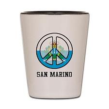 Peace In San Marino Shot Glass