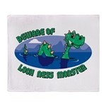 Beware Of Loch Ness Monster Throw Blanket