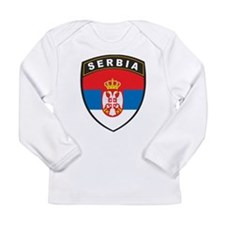 Serbia Long Sleeve Infant T-Shirt