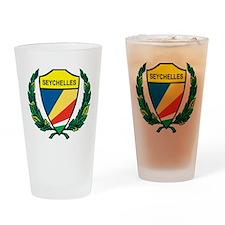 Stylized Seychelles Pint Glass