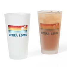 Stylish Sierra Leone Pint Glass