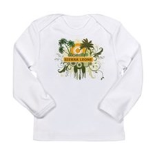 Palm Tree Sierra Leone Long Sleeve Infant T-Shirt