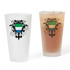 Stylish Sierra Leone Pint Glass