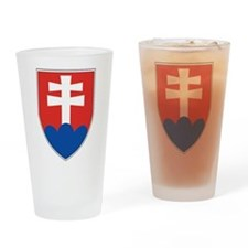 Slovakia Coat Of Arms Pint Glass